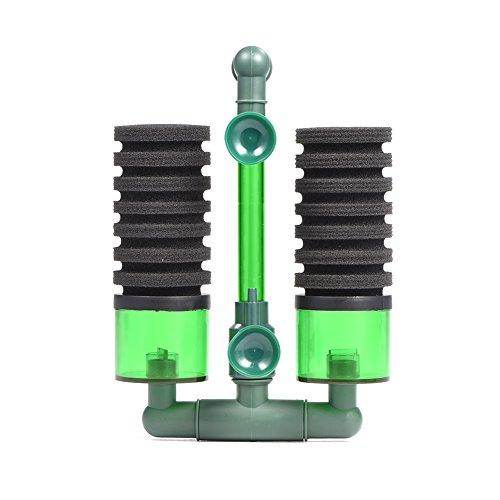 Luftpumpe Doppelkopf Biochemischen Bio Schwamm Schaum Filter mit Saugnapf für Aquarium Ausrüstung(QS-200A)