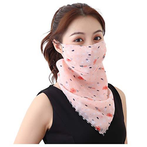 Andouy Kopftuch Bandana Mode Halstuch Stirnband Damen Schlauchtuch Neck Gaiter Gesichtsschutz Kopfbedeckung Halsmanschette Frauen Multifunktionstuch(L.L)