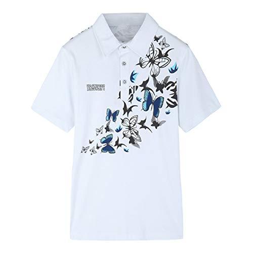 Polo Camiseta Manga Corta,Camiseta Ajustada Transpirable Con Estampado De Mariposa Para Hombre,...