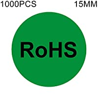 自己粘着ラベル 自己接着印刷用紙・ラベル・ステッカー1000 PCSラウンドシェイプ自己接着剤RoHS指令RoHS指令ステッカーラベル、直径:15ミリメートル