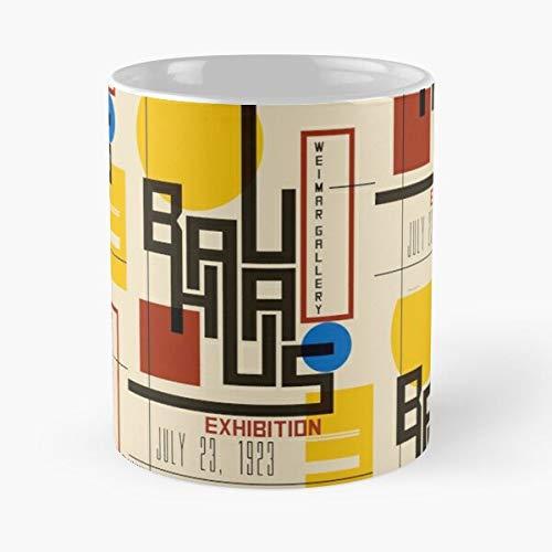 lumeCube Vintage Bauhaus Design Graphic Retro Exhibition Best 11 oz Kaffeebecher - Nespresso Tassen Kaffee Motive