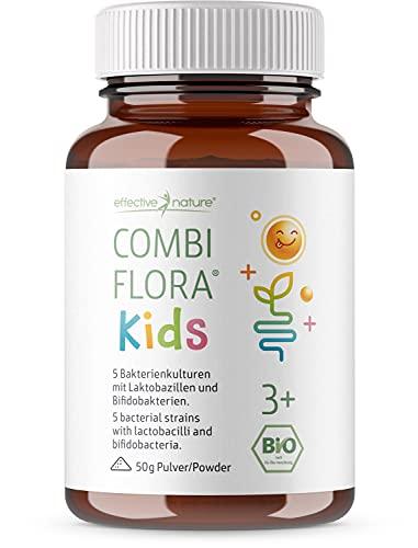 Combi Flora Kids Bio - 50 g - Mit Bifidobacterium & Lactobacillus für Kinder - Pulver mit Dosierlöffel