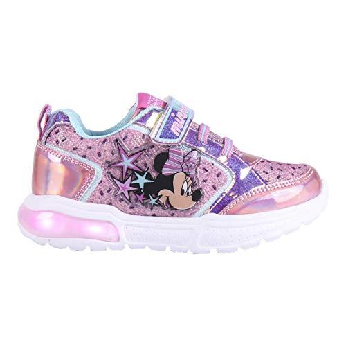 Cerdá Life'S Little Moments Zapatillas con Luces para Niñas de Minnie Mouse con Licencia Oficial Disney, Deportivas, Multicolor, 28 EU