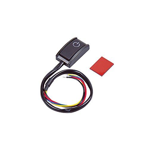 エーモン 貼り付けプッシュスイッチ ON-OFF DC12V・200mA 発光色:ホワイト 3225