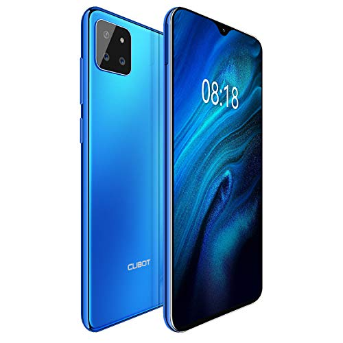 CUBOT X20pro 4G Android 9.0 Teléfono Movil Libre Pantalla 6,3' 19.5:9 FHD+, AI Triple Cámara Trasera, P60 Octa-Core Dual Sim,Face ID,Huella Dectilares 6GB RAM 128GB ROM, Batería 4000mAh (Azul)