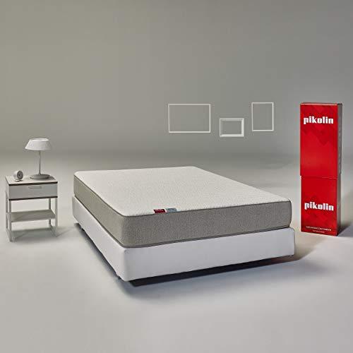 Pikolin Leah - Colchón viscoelástico y espuma HR, 90x200, Altura 24cm, Firmeza Alta, Confort Visco, Calidad Óptima, Protección Higiénica Total