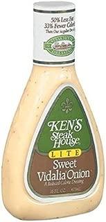 Ken's Steakhouse LITE Sweet Vidalia Onion Dressing (Pack of 2) 16 oz Bottles
