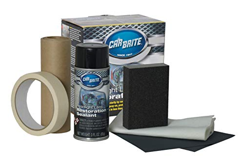 Car Brite - DIY Car Headlight Restoration Kit   Professional Results in Less Than 20 Minutes   Easy to Use Complete Set for Polishing, Cleaning and Protecting Your Headlights   All Makes and Models