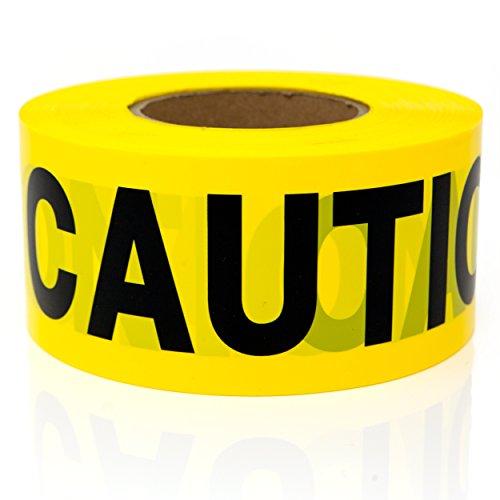 Premium Yellow Caution Tape - STRONGEST & THICKEST - 3