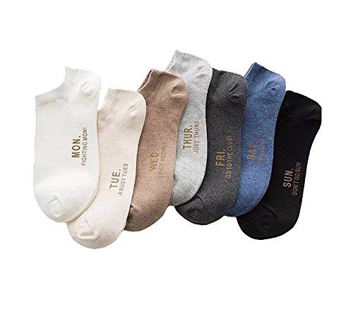 Pluto und Fox Damen Socken mit unterschiedlichen Mustern im 7er-Pack (B, 39-43)
