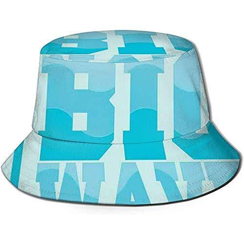 Gorra de Pescador, Texto de caligrafía Surfing Big Wave Miami Beach con...