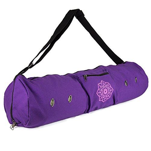 Peace Yoga Air Vent Yoga Mat Bag Purple Flower