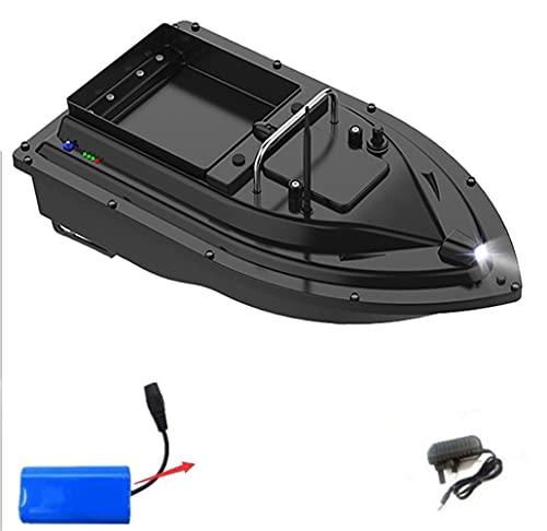 RC Pesca Barco Doble Propulsor 500m Largo Rango 9600mAh Batería 2kg Carga Automático Ruta Correcta RC Barco de Cebo con Bolsa de Mano, Barco Cebador, WQQWQQ-8521 (Color : UK 5200mah)
