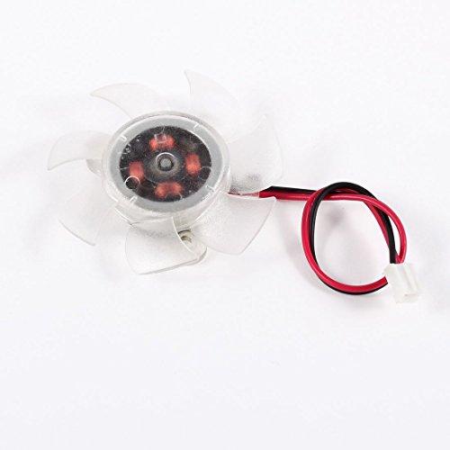 DealMux 45 mm 12 V clear plastic VGA-tarjeta gráfica ventilador de refrigeración para Ordenador-
