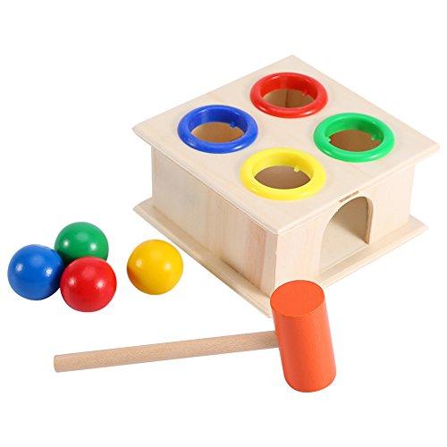 Martello giocattolo dei bambini della scatola Early Learning Education, il gioco della palla di legno