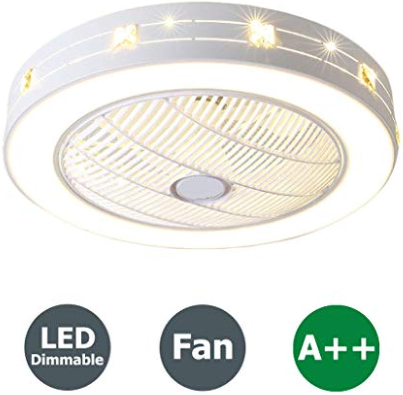 Fan Deckenventilator 96W LED Deckenleuchte mit Fernbedienung Einstellbar Kreative Kinderzimmer Deckenlampe Moderne Pendellampe Leise Deckenventilator Lampe Schlafzimmer Wohnzimmer Beleuchtung, 55cm