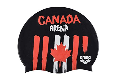 Arena Unisex's Nation Flags Silicone Swim Cap, Canada Classic, One Size