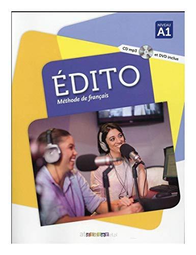 Edito niveau a1 méthode de français. Edition internationale Livre cd mp3 dvd