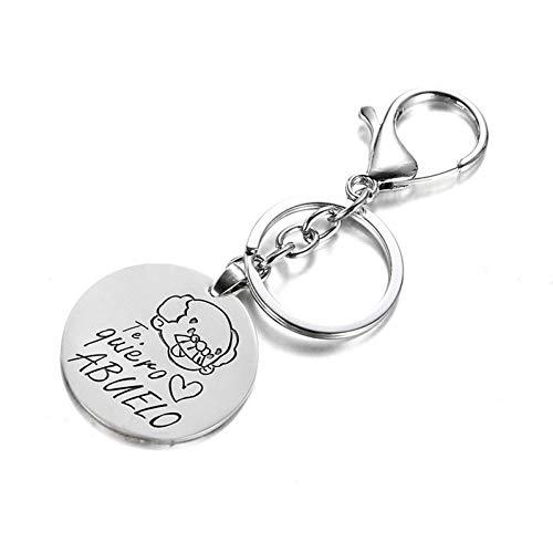 N/ A Mode schöne Silber Großmutter te Quiero Love Abuelo Großvater Großmutter Paar Schlüsselbund Schlüsselbund Geschenk