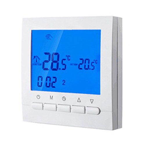 PETSOLA WIFI Digital Funk Thermostat Fußbodenheizung LCD Raumregler Touchscreen