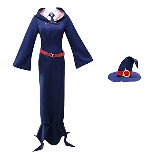 Anime Little Witch Academia Halloween Cosplay Kostüme Kagari Atsuko/Sucy Manbavaran/Professor Ursula/Diana Cavendish Schuluniformkleid