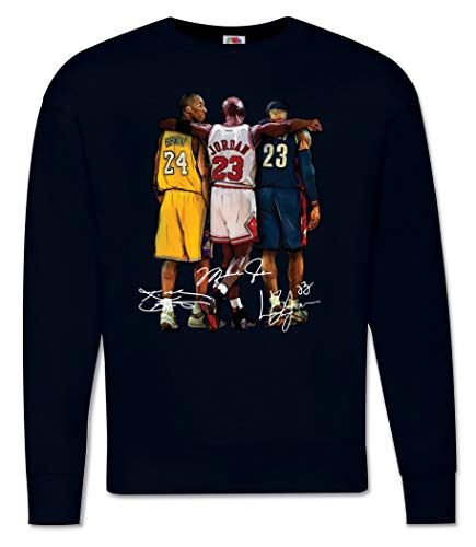 Generico Felpa Uomo Kobe Bryant Campioni di Basket NBA Pallacanestro - Basketball Legends MOD. Girocollo (Nero, XL)