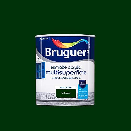 Bruguer Acrylic Multisuperficie Esmalte al agua Brillante Verde Mayo 750 ml