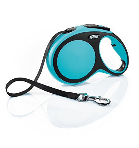 FLEXI New Comfort Retractable Dog Leash (Tape), 26 ft, Large, Blue, Model:CF30T8.250.BL