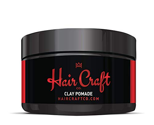 Hair Craft Co. Clay Pomade 3oz - Shine Free Matte Finish - Medium