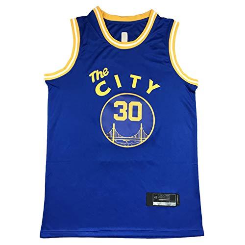 XMYP Warriors Men's Basketball Jersey, Curry Wiseman Jerseys 2021 New Temporada, Fresco Tela Transpirable Swingman Vestido Sin Mangas Top Ropa Blue A-XL