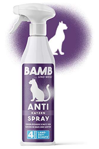 bamb Katzenabwehr Spray – 500ml Katzen Fernhaltespray – Natürliche Katzenabwehrspray im Garten & Haus – Katzenschreck für Garten Alternative