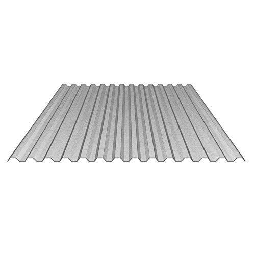 Lichtplatte | Spundwandplatte | Material Acrylglas | Profil 76/18 | Breite 1045 mm | Stärke 2,5 mm | Farbe Perlgrim Grau