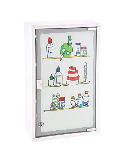 TS Exclusiv Medizinschrank Arzneischrank Erste Hilfe Verbandsschrank Wandschrank Medikamentenschrank Weiß 50x30x15cm