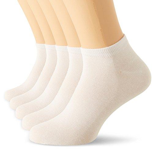 Nur Die Damen Sneaker Socken Classic 5er Füßlinge, Weiß (Weiß 920), 39/42