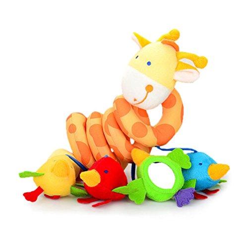 YeahiBaby infantil bebé juguete colgantes para cochecitos espiral de Animales jirafa lindo coche bebé cinturón de juguete