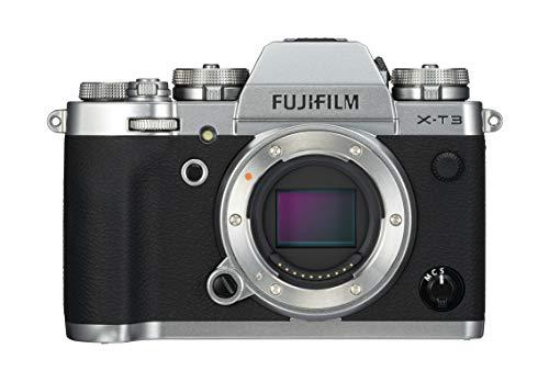 Fujifilm X-T3 - Cámara de objetivo intercambiable sin espejo, con sensor APS-C de 26,1 Mpx, video 4K/60p DCI, pantalla táctil, WIFI, Bluetooth, Plata