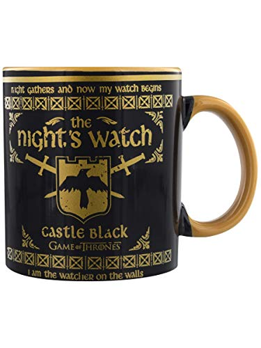 Game of Thrones MMG25195 Riesen-Tasse, Keramik, 568 ml, Motiv: Thrones-Night's Watch