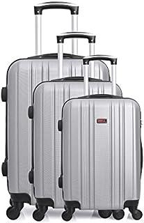 Hero Luggage Set, Grey (Gris), 76 cm