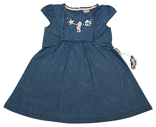 Sigikid Mädchen Jeans Kleid, Mini Kleid, per Pack Blau Denim, 122 (Herstellergröße: 122)