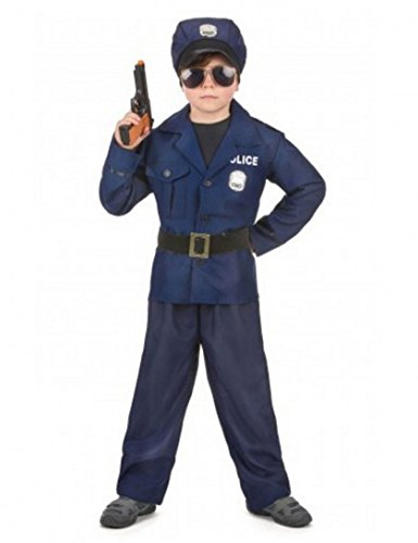 Déguisement policier luxe garçon - 7 à 9 ans