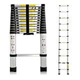Vlio 3.8M 12.5 Feet Telescopic Ladder DIY Aluminum Alloy Folding Extendable Extension Ladder for Home Office...