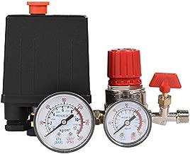 Air Compressor Valve, Small Air Compressor Pressure Switch Control Valve Regulator with Gauges