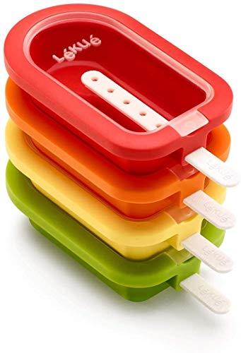 Lékué - Polo apilable classic, Silicona, Surtido multicolor, 16,5 cm, 4 Unidades