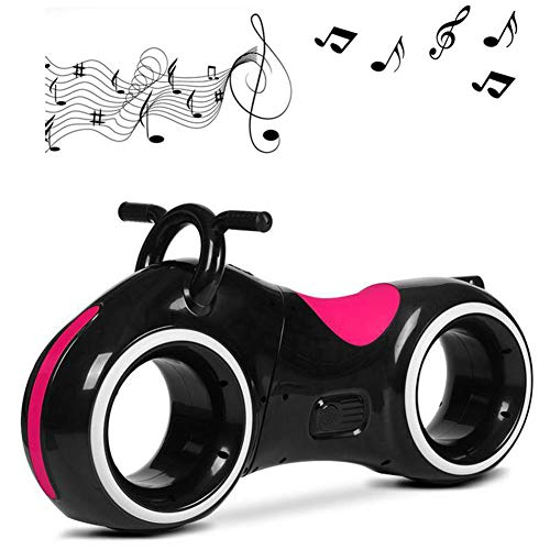 LHLCG Kids Scooter - 2 ronde veiligheid kleine kinderen fiets crash anti-botsing met Bluetooth Ages 1-3, zwart