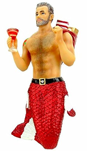 December Diamonds Santa Daddy II Merman with Presents Christmas Ornament 5555008