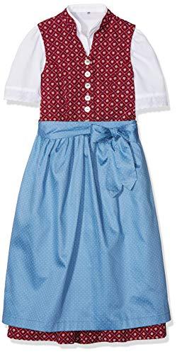 Berwin & Wolff Mädchen 586160 Kleid, Mehrfarbig (Rot/Blau 2832), 134