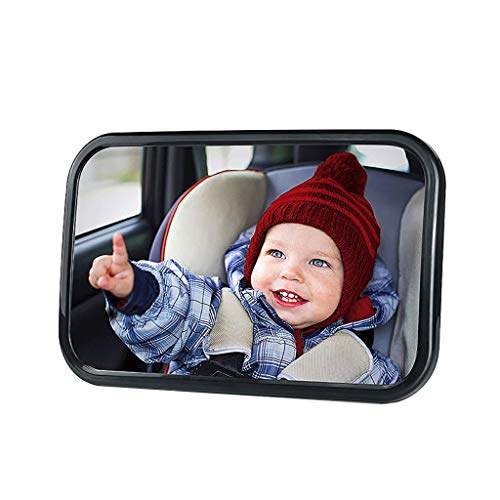 Children's Car Mirror, Safety Seat Rear View Mirror kinderzitje, Wide Transparent gezichtsveld, onbreekbaar, volledig gemonteerd, Rear View Car Seat