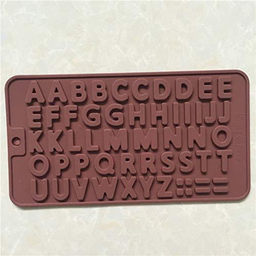 Shilia goed gemaakte siliconen mal 26 Engels alfabet siliconen chocolade schimmel taartvorm bakgereedschap