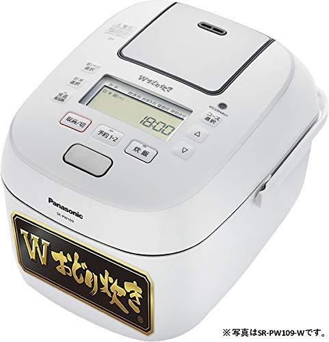 パナソニック 炊飯器 1升 可変圧力IH式 Wおどり炊き ホワイト SR-PW189-W
