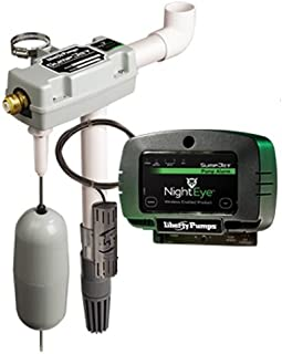 Liberty Pumps SJ10A-EYE StormCell 442-Series SumpJet Water Powered Back-Up Sump Pump with NightEye Wireless Alarm